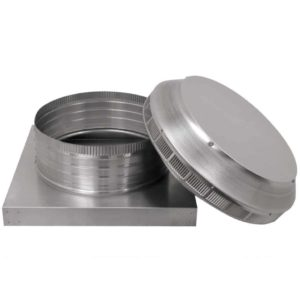 Roof Louver for Air Intake - Pop Vent with Curb Mount Flange PV-14-C4-CMF-removed