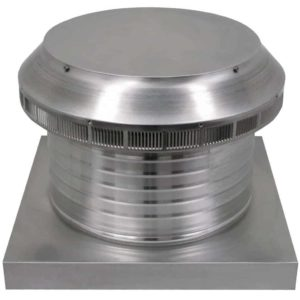 Roof Louver for Air Intake - Pop Vent with Curb Mount Flange PV-14-C6-CMF-angle