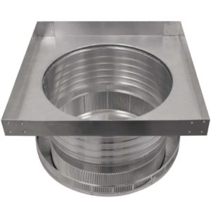 Roof Louver for Air Intake - Pop Vent with Curb Mount Flange PV-14-C6-CMF-bottom