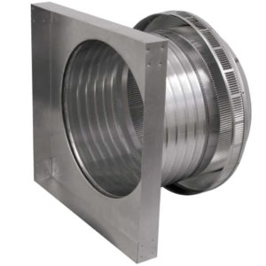 Roof Louver for Air Intake - Pop Vent with Curb Mount Flange PV-14-C6-CMF-side view