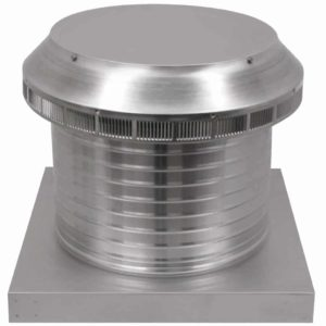 Roof Louver for Air Intake - Pop Vent with Curb Mount Flange PV-14-C8-CMF-angle