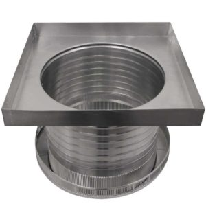 Roof Louver for Air Intake - Pop Vent with Curb Mount Flange PV-14-C8-CMF-bottom view
