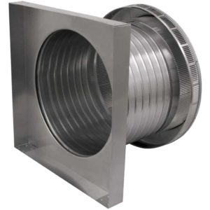 Roof Louver for Air Intake - Pop Vent with Curb Mount Flange PV-14-C8-CMF-side