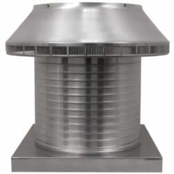 Roof Louver for Air Intake - Pop Vent with Curb Mount Flange PV-16-C12-CMF-1-e1524578188580
