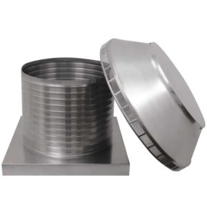 Roof Louver for Air Intake - Pop Vent with Curb Mount Flange PV-16-C12-CMF-12