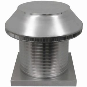 Roof Louver for Air Intake - Pop Vent with Curb Mount Flange PV-16-C12-CMF-2