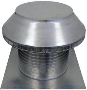 Roof Louver for Air Intake - Pop Vent  PV-16-C12-angle