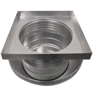 Roof Louver for Air Intake - Pop Vent with Curb Mount Flange PV-16-C4-CMF-bottom view