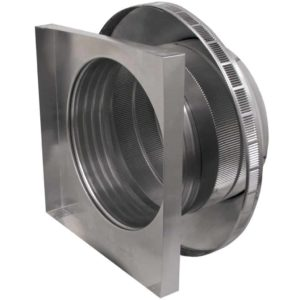 Roof Louver for Air Intake - Pop Vent with Curb Mount Flange PV-16-C4-CMF-inisde louvers