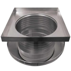 Roof Louver for Air Intake - Pop Vent with Curb Mount Flange PV-16-C6-CMF-bottom view