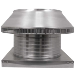 Roof Louver for Air Intake - Pop Vent with Curb Mount Flange PV-16-C6-CMF-front