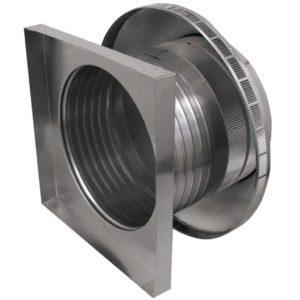 Roof Louver for Air Intake - Pop Vent with Curb Mount Flange PV-16-C6-CMF-side