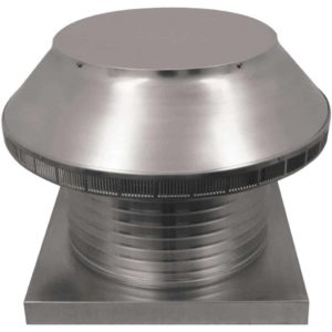 Roof Louver for Air Intake - Pop Vent with Curb Mount Flange PV-16-C8-CMF-angle