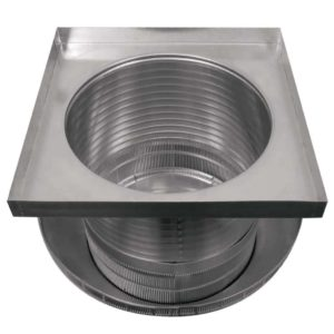 Roof Louver for Air Intake - Pop Vent with Curb Mount Flange PV-18-C12-CMF-upsidedown-2