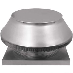 Roof Louver for Air Intake - Pop Vent with Curb Mount Flange PV-18-C4-CMF-angle