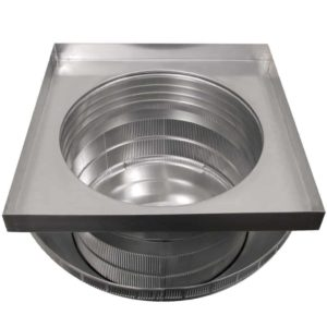 Roof Louver for Air Intake - Pop Vent with Curb Mount Flange PV-18-C4-CMF-bottom view