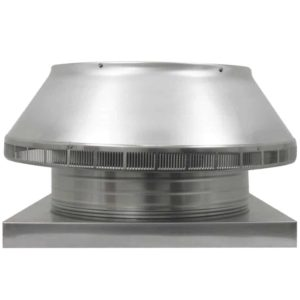 Roof Louver for Air Intake - Pop Vent with Curb Mount Flange PV-18-C4-CMF-front view