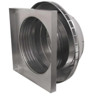 Roof Louver for Air Intake - Pop Vent with Curb Mount Flange PV-18-C4-CMF-inside louvers