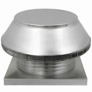 Roof Louver for Air Intake - Pop Vent with Curb Mount Flange PV-18-C6-CMF-angle