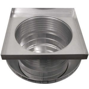 Roof Louver for Air Intake - Pop Vent with Curb Mount Flange PV-18-C6-CMF-bottom view
