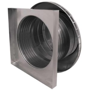 Roof Louver for Air Intake - Pop Vent with Curb Mount Flange PV-18-C6-CMF-side