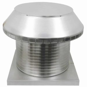 Roof Louver for Air Intake - Pop Vent with Curb Mount Flange PV-20-C12-CMF-2