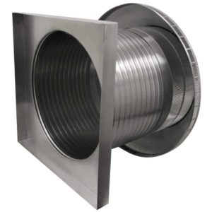 Roof Louver for Air Intake - Pop Vent with Curb Mount Flange PV-20-C12-CMF-4