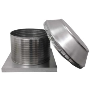 Roof Louver for Air Intake - Pop Vent with Curb Mount Flange PV-20-C12-CMF-5