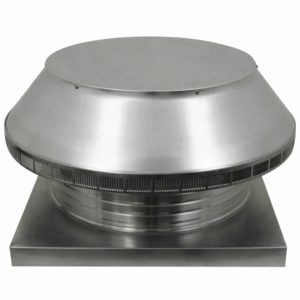 Roof Louver for Air Intake - Pop Vent with Curb Mount Flange PV-20-C4-CMF-angle