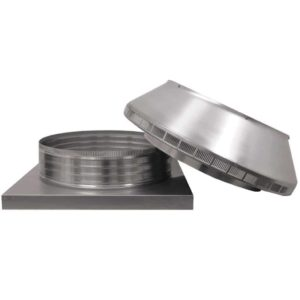 Roof Louver for Air Intake - Pop Vent with Curb Mount Flange PV-20-C4-CMF-removed