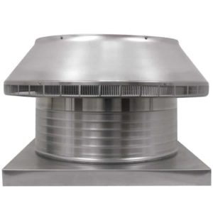 Roof Louver for Air Intake - Pop Vent with Curb Mount Flange PV-20-C6-CMF-front