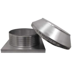 Roof Louver for Air Intake - Pop Vent with Curb Mount Flange PV-20-C6-CMF-removed