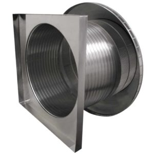 Roof Louver for Air Intake - Pop Vent with Curb Mount Flange PV-24-C12-CMF-4