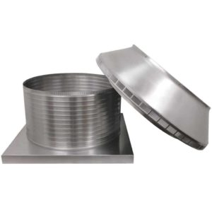 Roof Louver for Air Intake - Pop Vent with Curb Mount Flange PV-24-C12-CMF-6