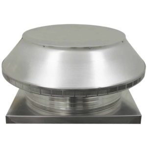 Roof Louver for Air Intake - Pop Vent with Curb Mount Flange PV-24-C4-CMF-angle