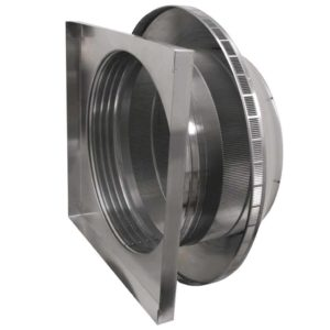 Roof Louver for Air Intake - Pop Vent with Curb Mount Flange PV-24-C4-CMF-side view