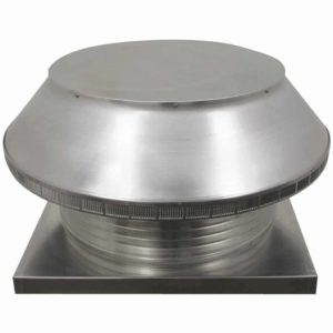 Roof Louver for Air Intake - Pop Vent with Curb Mount Flange PV-24-C6-CMF-angle