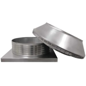 Roof Louver for Air Intake - Pop Vent with Curb Mount Flange PV-24-C6-CMF-removed