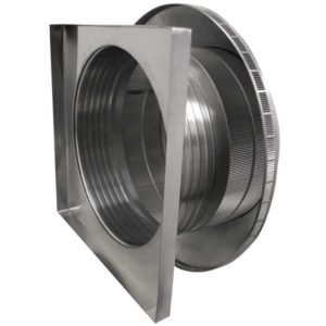 Roof Louver for Air Intake - Pop Vent with Curb Mount Flange PV-24-C6-CMF-side