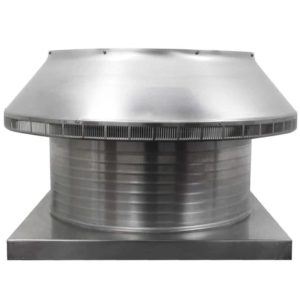 Roof Louver for Air Intake - Pop Vent with Curb Mount Flange PV-24-C8-CMF-front