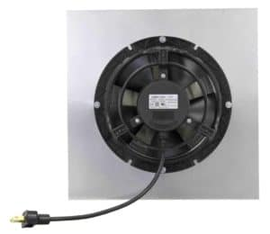 Round Back Fan from underneath showing fan and plug