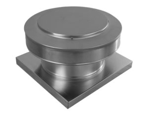 10 inch Static Roof Vent with Curb Mount Flange