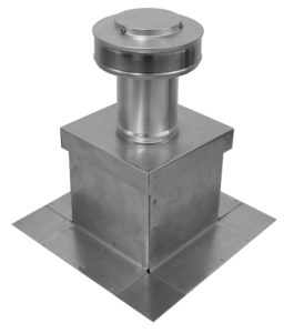 Roof vent with Curb Mount Flange installed on top of a Roof Curb