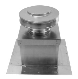 Static roof Vent with Curb Mount Flange on Roof Curb