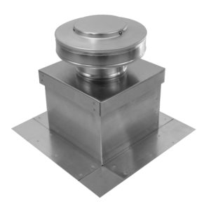 Round Back Static Vent on Roof Curb