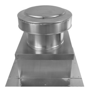 8 inch static roof vent on roof curb