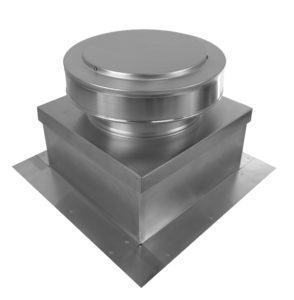 9 inch Static roof vent on top of a roof curb