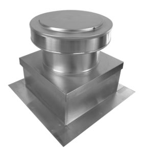 Static Roof Vent on Roof Curb