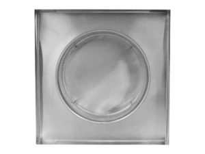 Static Vent Round Back with Curb Mount Flange rbv-10-c2-cmf-bottom
