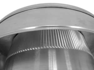 Static Vent Round Back with Curb Mount Flange rbv-10-c2-cmf-louvers